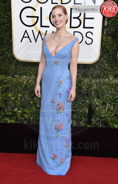 Jessica Chastain - Beverly Hills - 08-01-2017 - Golden Globe 2017: il red carpet va preso di petto