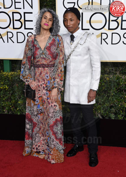 Helen Lasichanh, Pharrell Williams - Beverly Hills - 08-01-2017 - Golden Globe 2017: gli arrivi sul red carpet