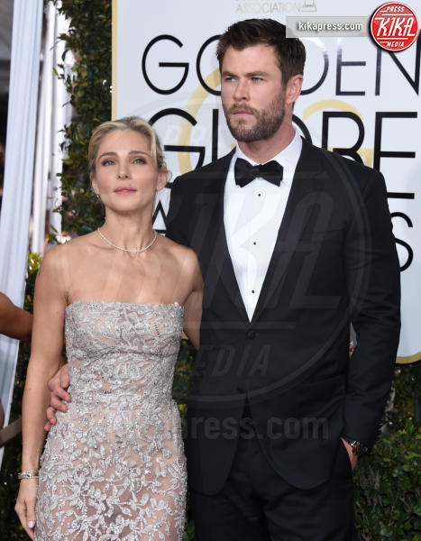 Chris Hemsworth, Elsa Pataky - Beverly Hills - 08-01-2017 - Golden Globe 2017: gli arrivi sul red carpet