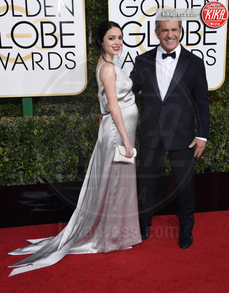 Rosalind Ross, Mel Gibson - Beverly Hills - 08-01-2017 - Golden Globe 2017: gli arrivi sul red carpet