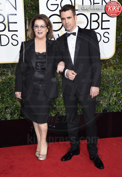Rita Farrell, Colin Farrell - Beverly Hills - 08-01-2017 - Golden Globe 2017: gli arrivi sul red carpet