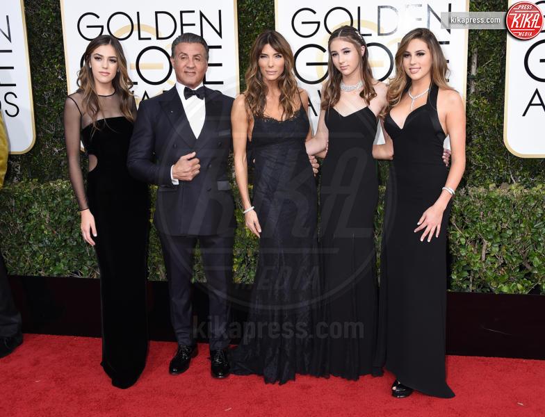 Scarlet Stallone, Jennifer Flavin, Sylvester Stallone - Beverly Hills - 08-01-2017 - Golden Globe 2017: gli arrivi sul red carpet