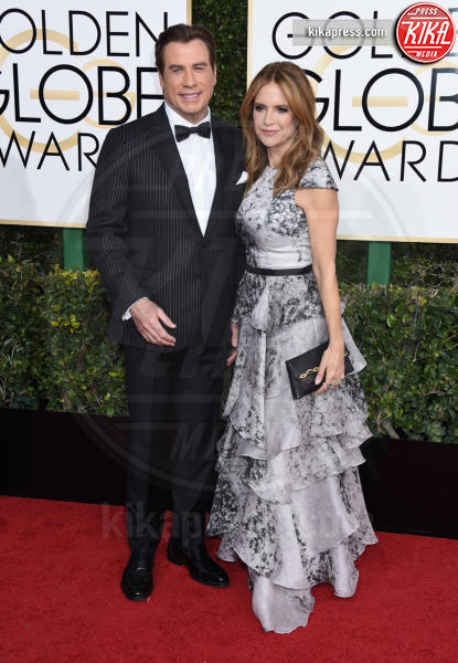 Kelly Preston, John Travolta - Beverly Hills - 08-01-2017 - Golden Globe 2017: gli arrivi sul red carpet