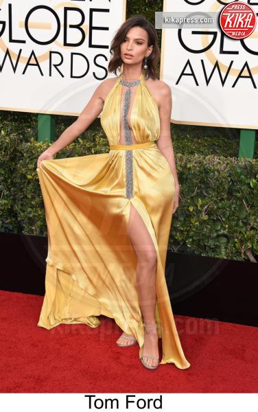 Emily Ratajkowski - Beverly Hills - 08-01-2017 - Golden Globe 2017: tripudio di colori sul red carpet!