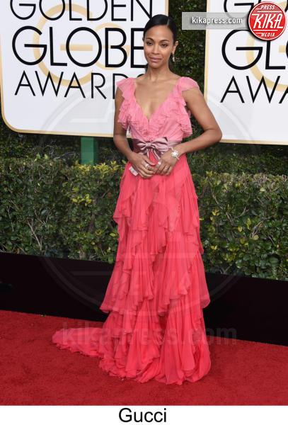 Zoe Saldana - Beverly Hills - 08-01-2017 - Golden Globe 2017: tripudio di colori sul red carpet!