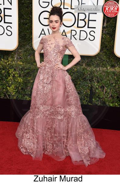 Lily Collins - Beverly Hills - 08-01-2017 - Golden Globe 2017: tripudio di colori sul red carpet!