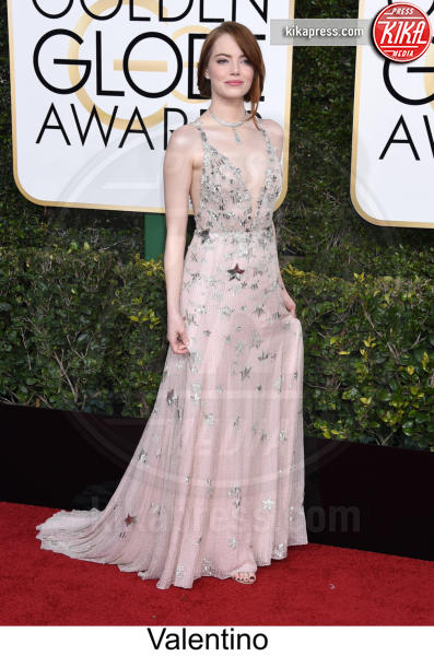 Emma Stone - Beverly Hills - 08-01-2017 - Golden Globe 2017: tripudio di colori sul red carpet!