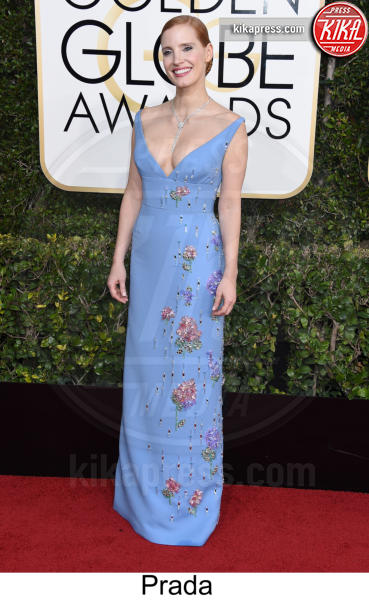 Jessica Chastain - Beverly Hills - 08-01-2017 - Golden Globe 2017: tripudio di colori sul red carpet!