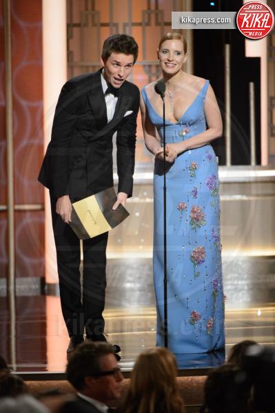 Eddie Redmayne, Jessica Chastain - Beverly Hills - 08-01-2017 - Golden Globe 2017: le immagini della cerimonia