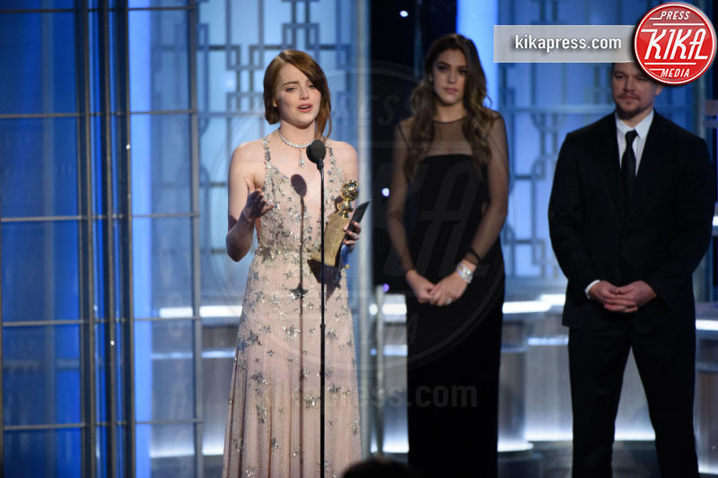 Emma Stone - Beverly Hills - 08-01-2017 - Golden Globe: è il trionfo di La La Land e del black power