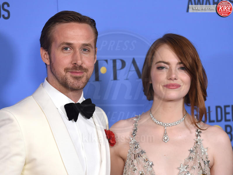 Emma Stone, Ryan Gosling - Beverly Hills - 08-01-2017 - BAFTA Awards: La La Land fa incetta di nomination