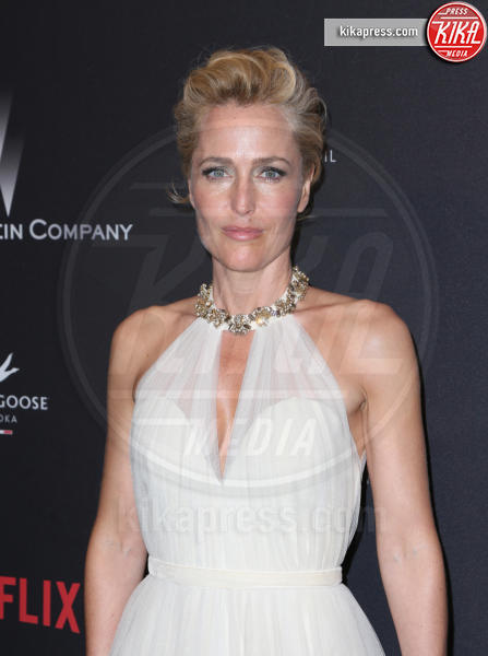 Gillian Anderson - Beverly Hills - 08-01-2017 - Golden Globe 2017: le foto del party Netflix