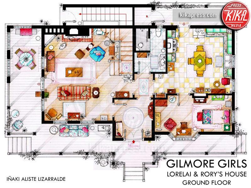 Le planimetrie delle case delle serie tv pi amate foto for Planimetrie delle case americane
