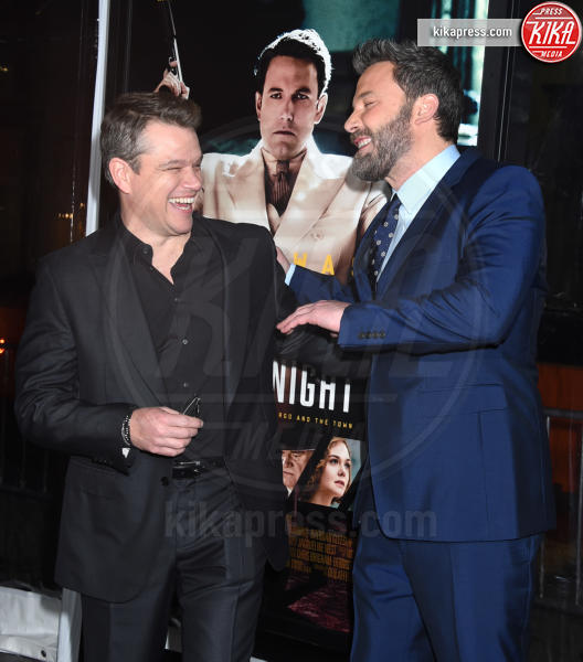 Matt Damon, Ben Affleck - Hollywood - 09-01-2017 - Sienna Miller-Elle Fanning-Zoe Saldana: che trio per Ben Affleck