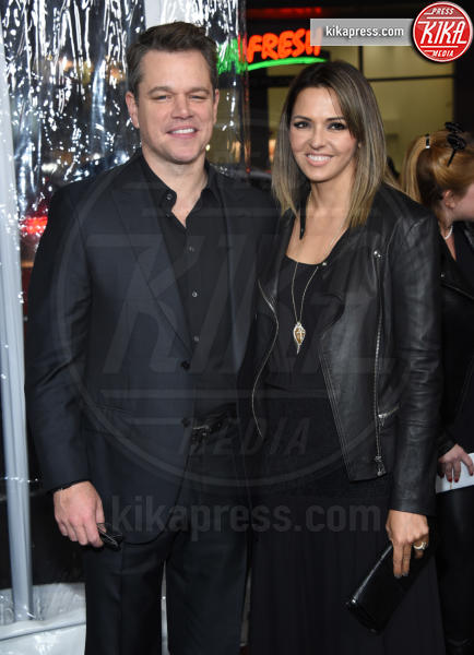 Luciana Barroso, Matt Damon - Hollywood - 09-01-2017 - Sienna Miller-Elle Fanning-Zoe Saldana: che trio per Ben Affleck
