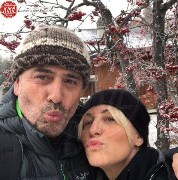 Vittorio Garrone, Antonella Clerici - Milano - 10-01-2017 - Antonella Clerici, il primo selfie con Vittorio Garrone
