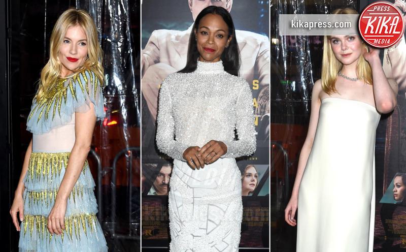 Zoe Saldana, Elle Fanning, Sienna Miller - 10-01-2017 - Sienna Miller-Elle Fanning-Zoe Saldana: che trio per Ben Affleck
