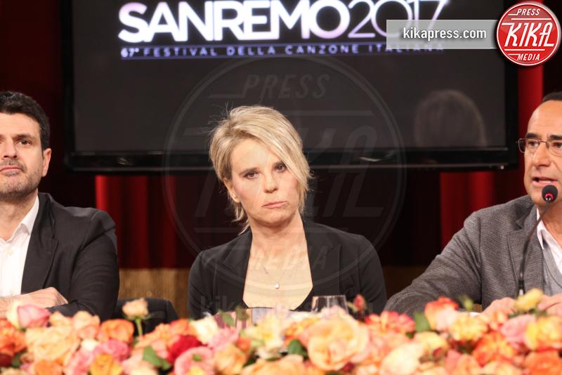 Maria De Filippi, Carlo Conti - Sanremo - 11-01-2017 - Carlo Conti e Maria De Filippi: ecco come sarà Sanremo 2017