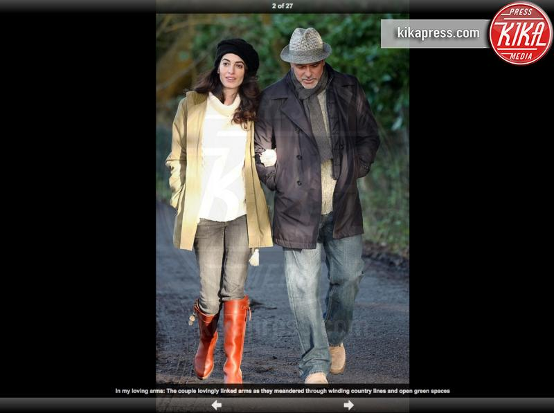 Amal Alamuddin, George Clooney - Londra - 12-01-2017 - Amal, ma sei incinta di due gemelli oppure no?