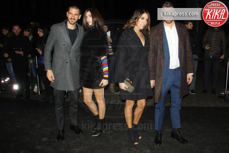 Leonardo Bonucci, Andrea Barzagli - Milano - 16-01-2017 - Emily Ratajkowski celebra la Juve in Black and white and more
