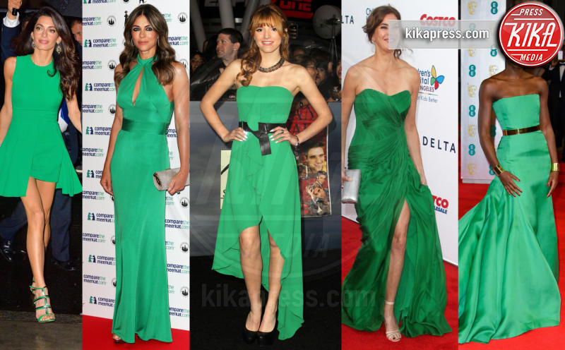 Amal Alamuddin, Lupita Nyong'o, Liz Hurley, Bella Thorne, Teri Hatcher - 19-01-2017 - Volete essere trendy? Allora dovete essere Verde Greenery!