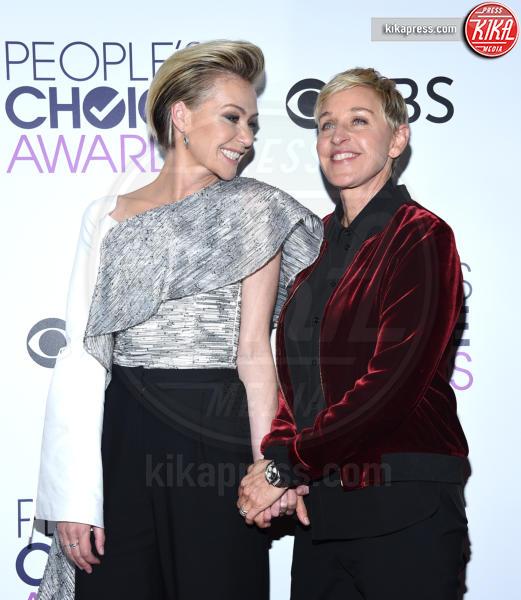 Ellen DeGeneres, Portia De Rossi - Los Angeles - 18-01-2017 - People's Choice: notte dorata per Sarah Jessica Parker