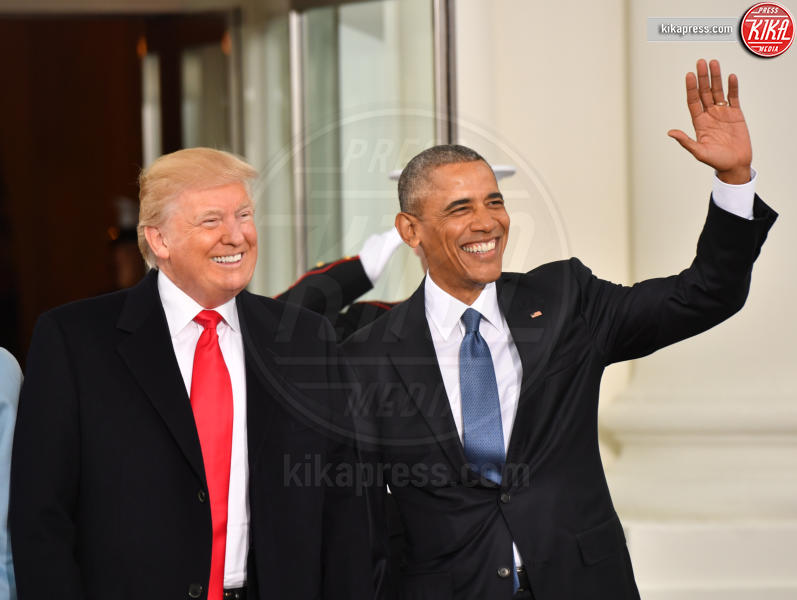 Trump Presidential Inauguration 2017, Barack Obama, Donald Trump - Washington - 20-01-2017 - Donald Trump è il 45esimo presidente degli Stati Uniti