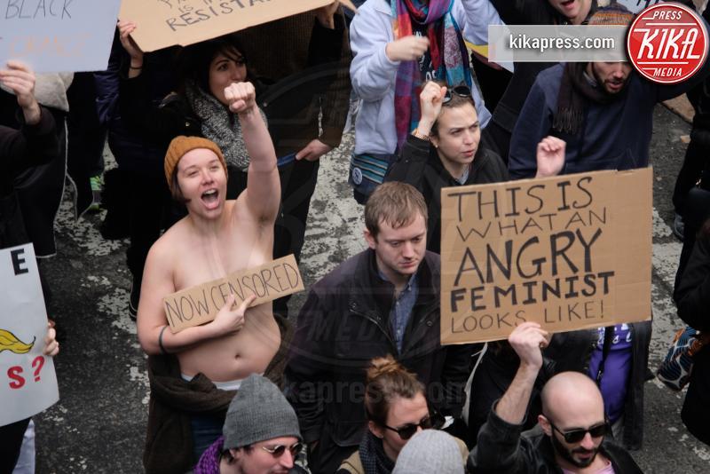 Atmosphere - Women's March New York - Manhattan - 22-01-2017 - Women's March: la folla sfila per Manhattan