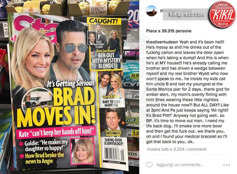 Oliver Hudson - Hollywood - 24-01-2017 - Oliver Hudson: 'Mia sorella con Brad Pitt? Un disastro'