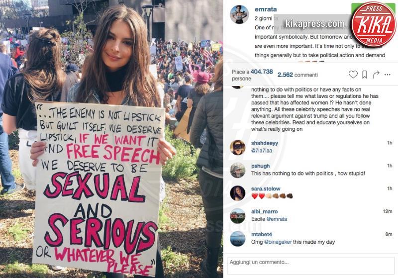 Emily Ratajkowski - Hollywood - 24-01-2017 - Emily Ratajkowski: che sexy la passeggiata in lingerie!