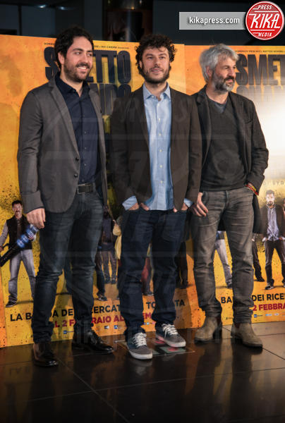 Sydney Sibilia, Matteo Rovere, Domenico Procacci - Roma - 24-01-2017 - Valeria Solarino torna nella banda di Smetto quando voglio