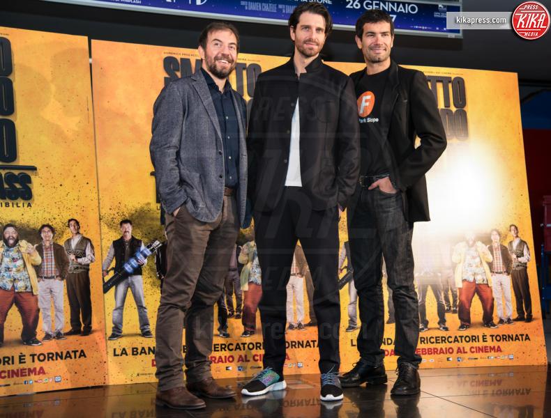 Rosario Lisma, Giampaolo Morelli, Marco Bonini - Roma - 24-01-2017 - Valeria Solarino torna nella banda di Smetto quando voglio