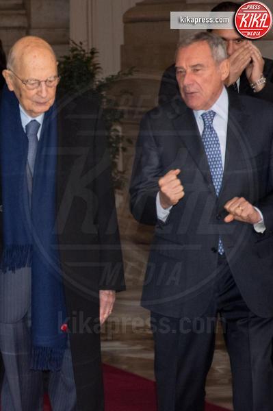 Apertura anno giudiziario, Pietro Grasso, Giorgio Napolitano - Roma - 26-01-2017 - Il presidente Mattarella all'apertura dell'anno giudiziario