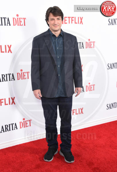Nathan Fillion - Hollywood - 01-02-2017 - Drew Barrymore,altro che zombie alla prima di Santa Clarita Diet