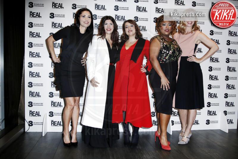 Marisa Passera, Daniela Collu, Ambra Romani, Barbara Tabita, Filippa Lagerback - Milano - 02-02-2017 - The Real: Filippa Lagerback guida la carica delle donne su Tv8