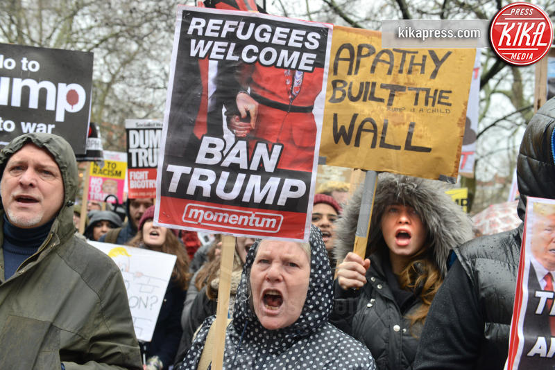 Protesta anti Trump - Londra - 04-02-2017 - Londra, monta la protesta contro il travel ban di Donald Trump