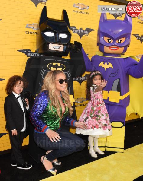 Moroccan Cannon, Monroe Cannon, Mariah Carey - Westwood - 04-02-2017 - Mariah Carey porta la famiglia alla prima di Lego Batman-Il Film