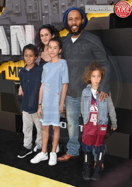 Gideon Robert Nesta and, Judah Victoria, Orly Agai, Ziggy Marley - Westwood - 04-02-2017 - Mariah Carey porta la famiglia alla prima di Lego Batman-Il Film