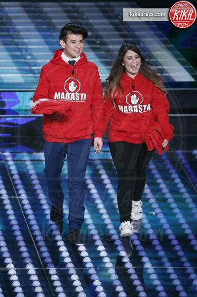 Giorgio Armillis, Francesca Laudisa - Sanremo - 07-02-2017 - Sanremo 2017: le foto della prima serata