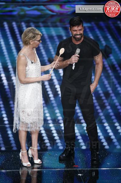 Maria De Filippi, Ricky Martin - Sanremo - 07-02-2017 - Sanremo 2017: le foto della prima serata
