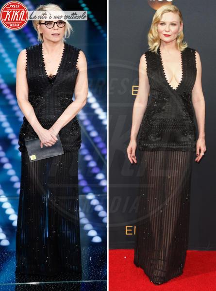Maria De Filippi, Kirsten Dunst - Sanremo - 08-02-2017 - Chi lo indossa meglio? Sanremo vs Hollywood