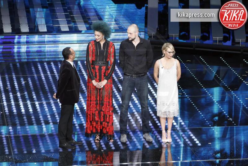 Marco Cusin, Valentina Diouf - Sanremo - 08-02-2017 - Sanremo 2017: le foto della prima serata