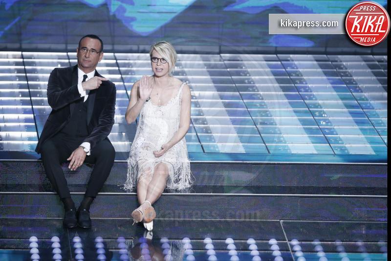 Maria De Filippi, Carlo Conti - Sanremo - 08-02-2017 - Sanremo 2017: le foto della prima serata