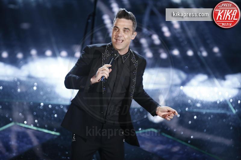 Robbie Williams - Sanremo - 08-02-2017 - Sanremo 2017: le foto della seconda serata