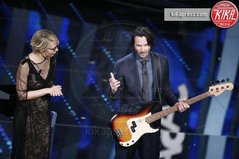 Maria De Filippi, Keanu Reeves - Sanremo - 08-02-2017 - Sanremo 2017: le foto della seconda serata