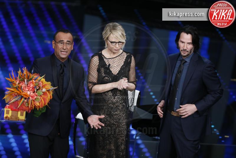 Maria De Filippi, Carlo Conti, Keanu Reeves - Sanremo - 08-02-2017 - Sanremo 2017: le foto della seconda serata