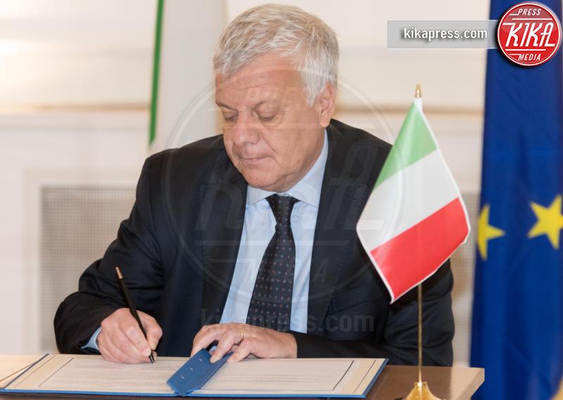 Luca Galletti - Roma - 09-02-2017 - Angelino Alfano, firmata dichiarazione congiunta Italia-Tunisia