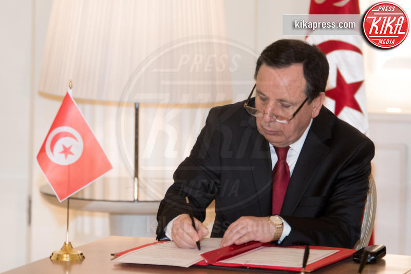 Khemaies Jhinaoui - Roma - 09-02-2017 - Angelino Alfano, firmata dichiarazione congiunta Italia-Tunisia