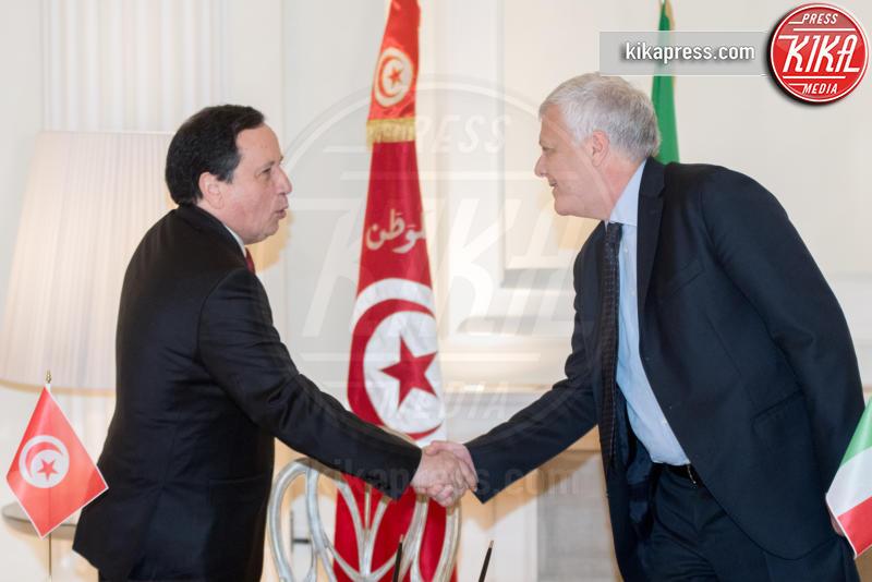Luca Galletti, Khemaies Jhinaoui - Roma - 09-02-2017 - Angelino Alfano, firmata dichiarazione congiunta Italia-Tunisia