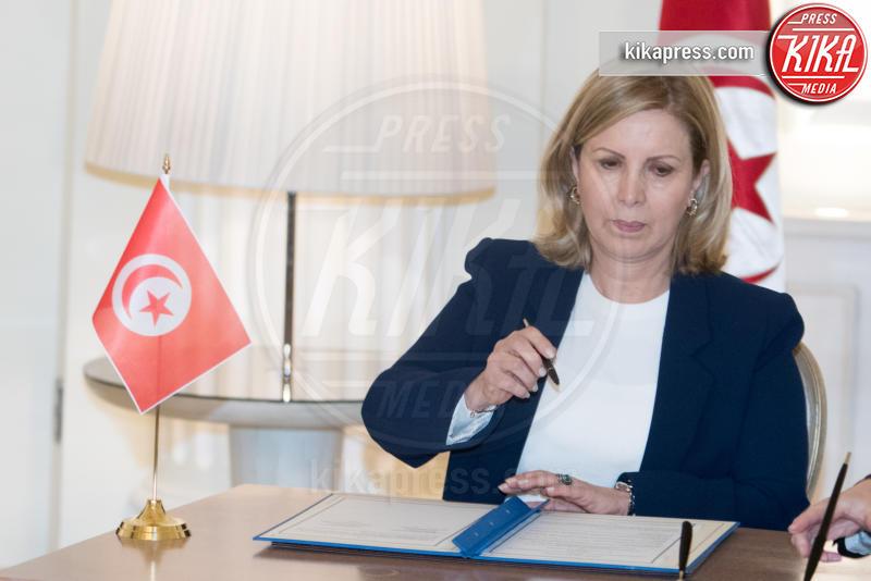 Salma Elloumi Rekik - Roma - 09-02-2017 - Angelino Alfano, firmata dichiarazione congiunta Italia-Tunisia